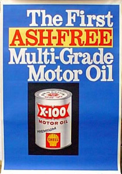 Original Vintage Shell Oil Advertising Poster Ash Free
