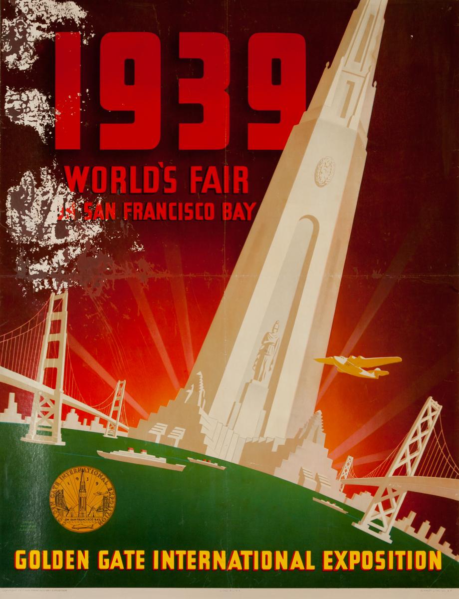 1939 World's Fair on San Francisco Bay - Golden  Gate International Exposition, Original Poster