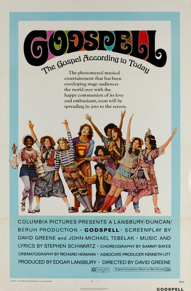 Godspell Original 1 Sheet Movie Poster