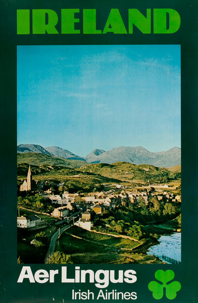 Ireland Aer Lingus Original Irish Airlines Travel Posters
