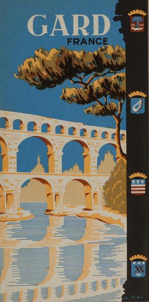 Gard France Original Travel Brochure