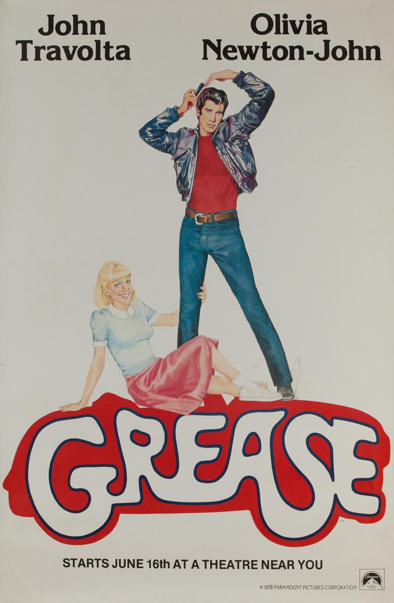 Original Advance Release Movie Poster Grease
