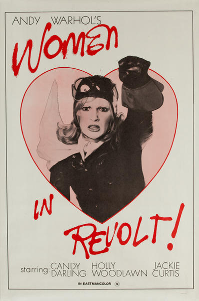 Andy Warhol's Women in Revolt, Original 1 Sheet Movie Poster