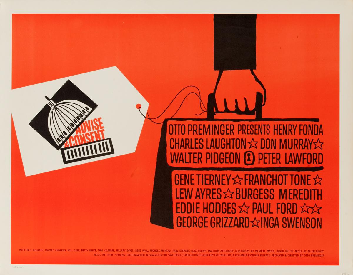 Advise & Consent (Columbia), Original American Movie Poster
