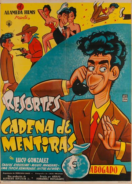Resorts Cadena de Mentiras, (Chain of Lies) Original Mexican Movie Poster
