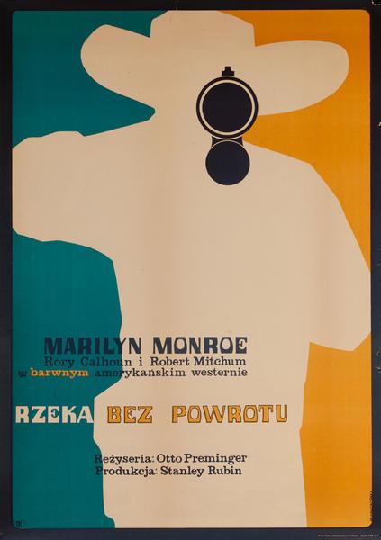 Rzeka Bez Powrotu, River Of No Return, Original Polish Movie Poster