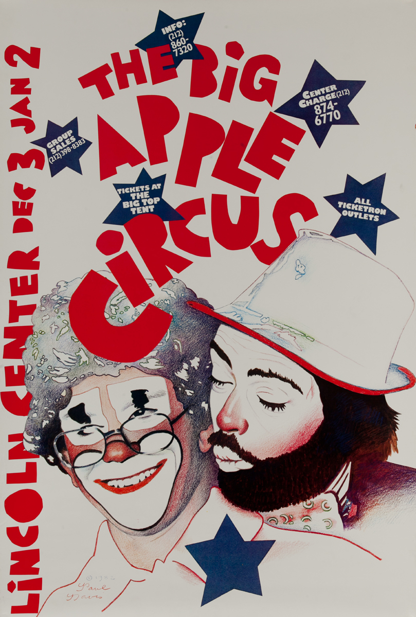 Big Apple Circus, Lincoln Center Original Poster