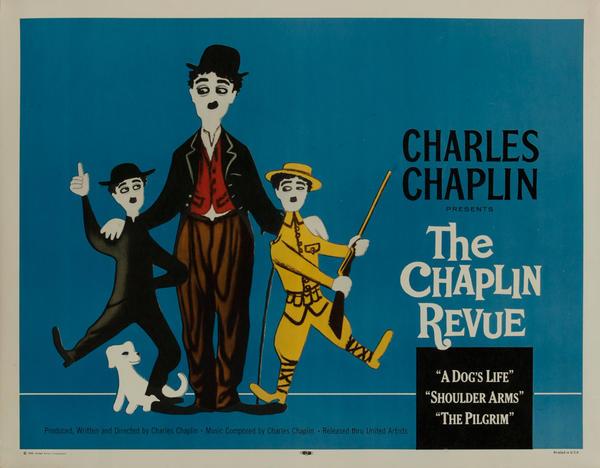 The Chaplin Revue, R59 Original Movie Poster (blue)