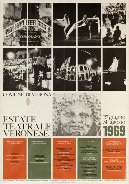Estate Teatrale Veronese, Original Italian Opera Travel Schedule Poster