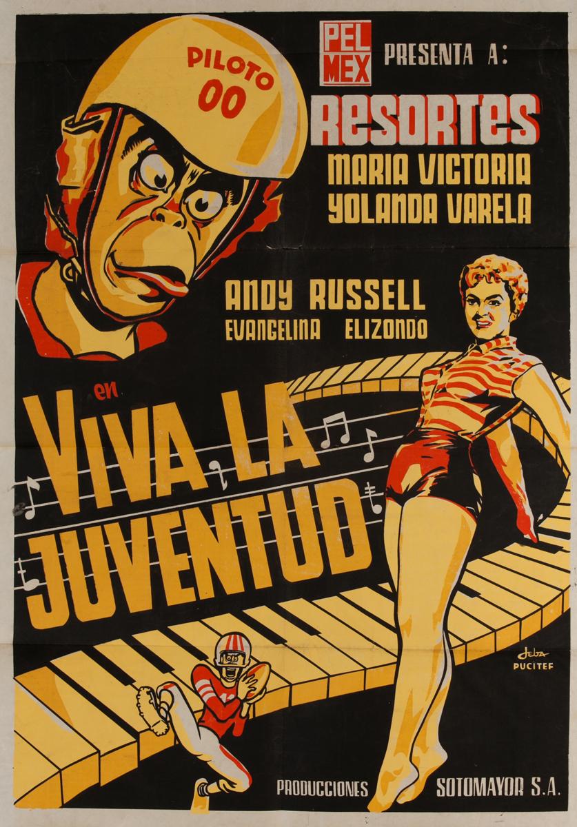 Viva La Juventud Original Mexican Movie Poster
