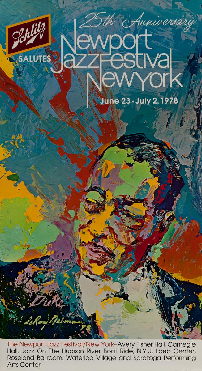25th Anniversary Newport Jazz Festival New York, Original Poster