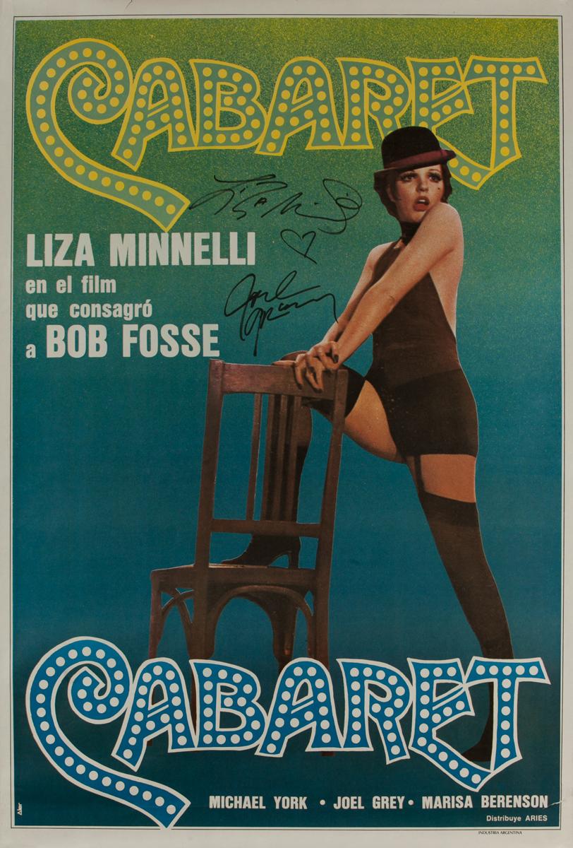 Cabaret, Original HAND SIGNED Argentinian Movie Poster
