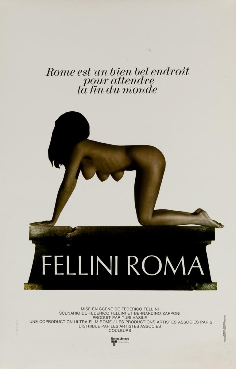 Fellini Roma Original French Movie Poster
