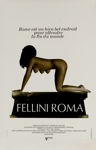 Fellini Roma Original French Movie Poster