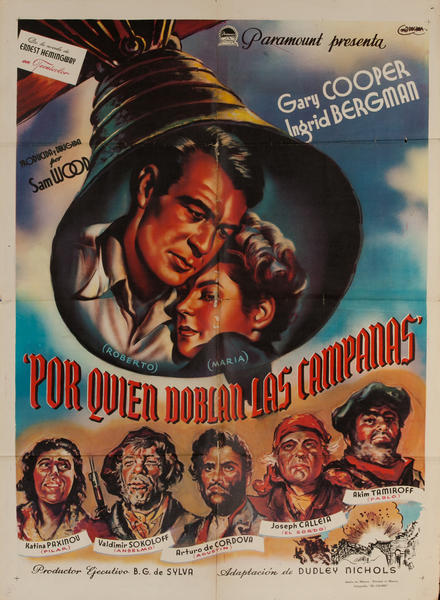 For Whom the Bell Tolls, Mexican Release Movie Poster