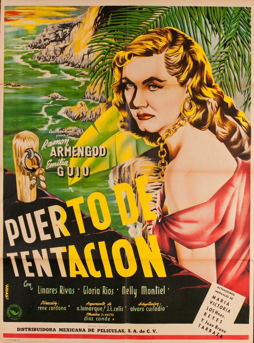 Puerto de Tentación, Original Mexican Movie Poster