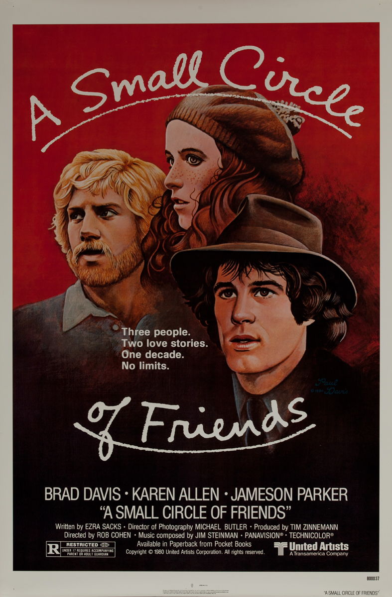 A Small Circle of Friends Original 1 Sheet Movie Poster