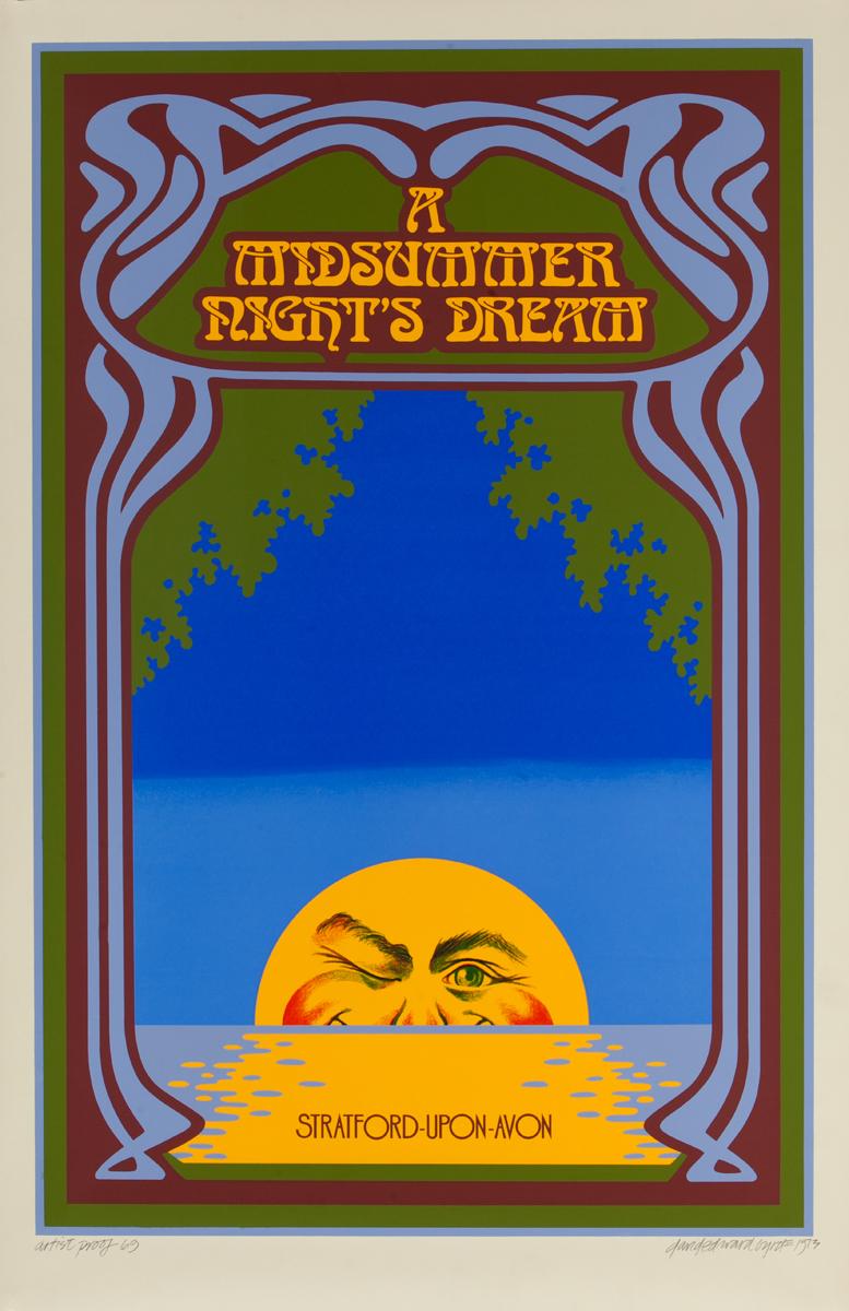 A Midsummer Night's Dream,  Stratford Upon Avon Theater Poster