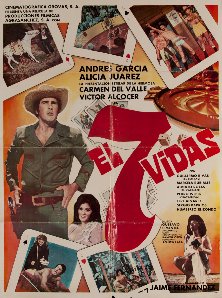 El 7 Vidas, Mexican Movie Poster The 7 Lives