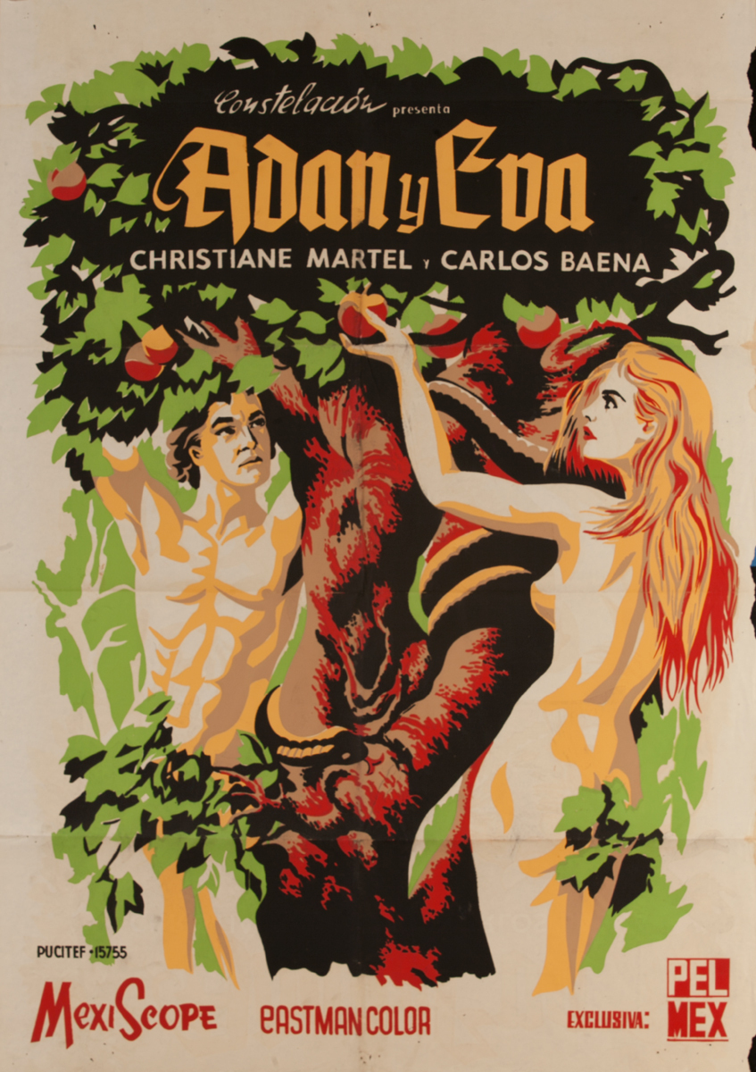 Adam Y Eva, Mexican Movie Poster