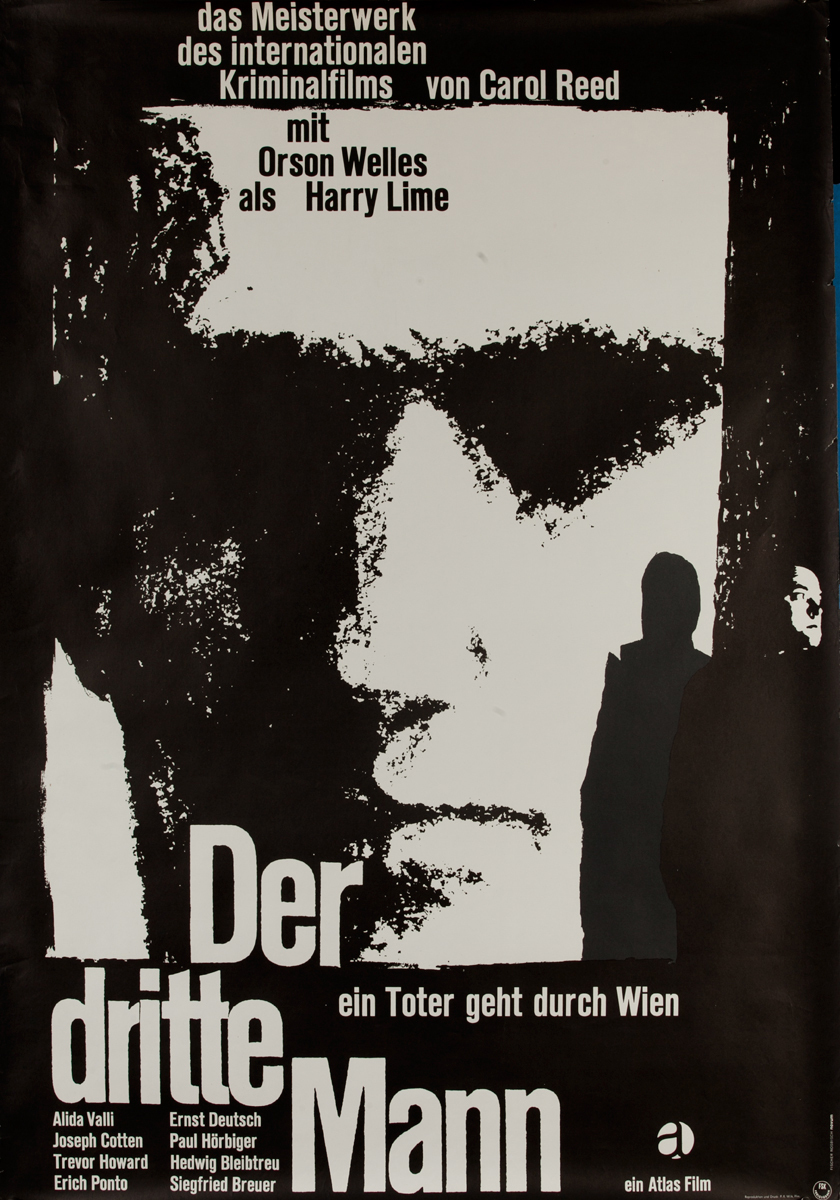 Der Dritte Mann, The Third Man, German Release Movie Poster
