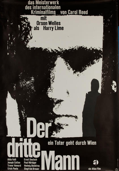 Der Dritte Mann, The Third Man, German Release Movie Poster
