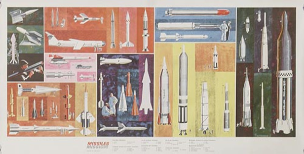 Missiles Original Military Space Hisyory Poster