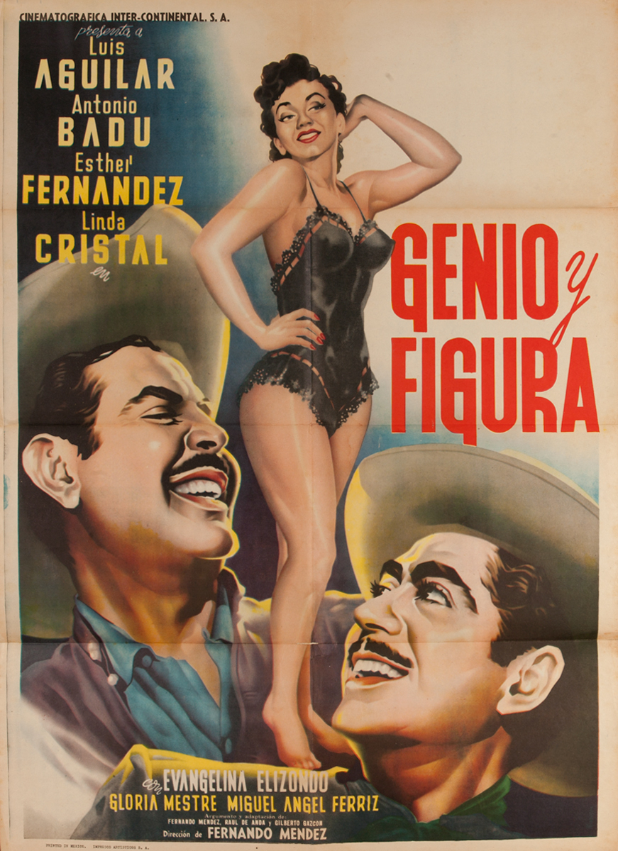 Genio Y Figura Mexican 1 Sheet Movie Poster