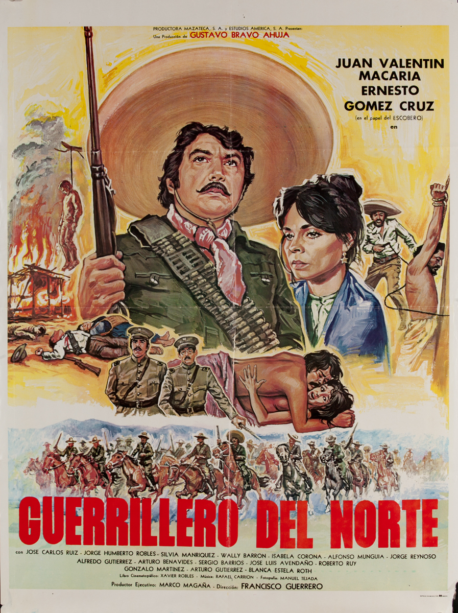 El Guerrillero del Norte, Mexican 1 Sheet Movie Poster, Guerilla from the North
