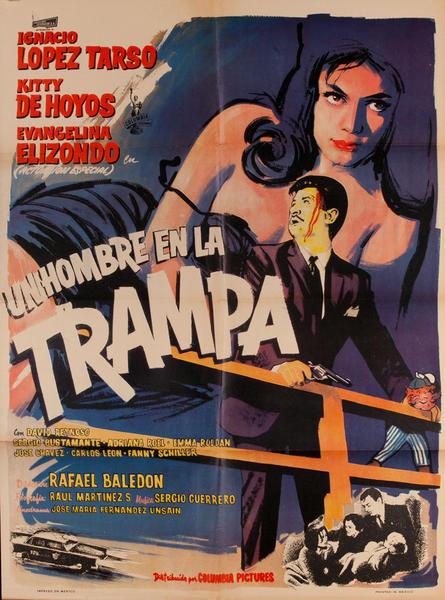 Un Homber en la Trampa, Mexican 1 Sheet Movie Poster, A Man in the Trap