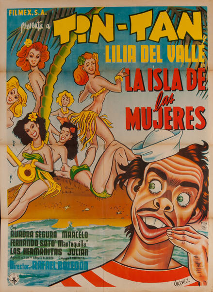 La Isla de las Mujeres, Mexican 1 Sheet Movie Poster