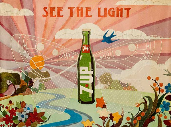 See The Light Original 7Up Advertising poster
