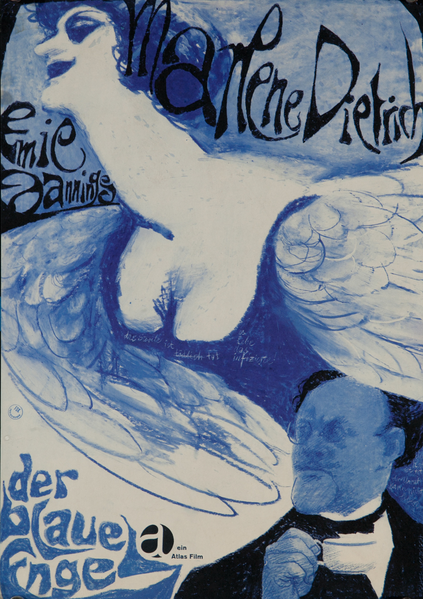 Der Blaue Engel, The Blue Angel German Re-release Movie Poster