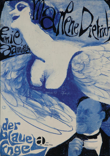 Der Blaue Engel, The Blue Angel German Re-release Movie Poster