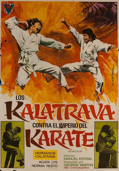 Los kalatrava Contra el iIperio del Karate, Mexican Movie Poster