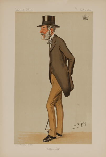 Cobham Hall, Vanity Fair Caricature Lithograph by Spy, The Earl of Darnley