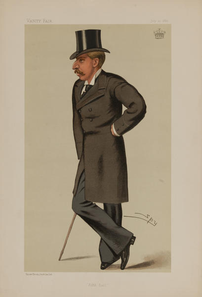 Fifth Earl, Vanity Fair Caricature Lithograph by Spy, The Earl of Ilchester