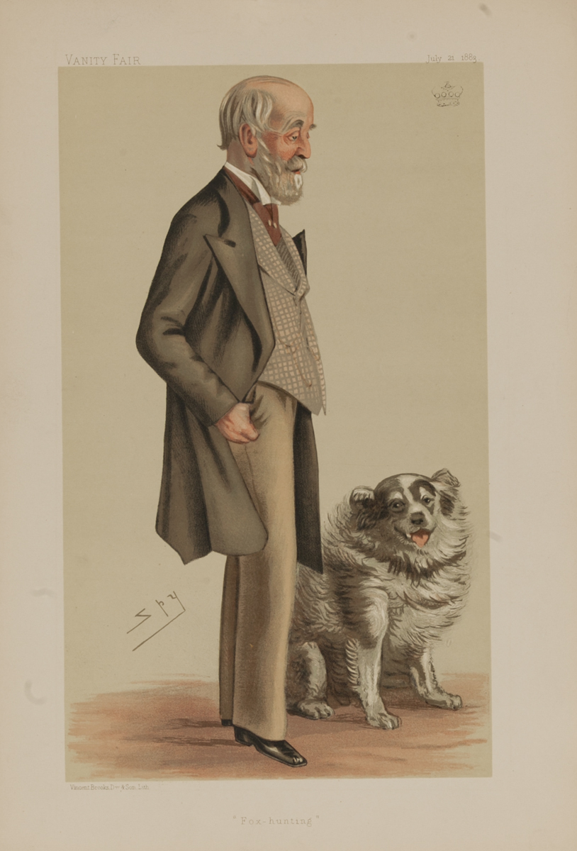 Fox hunting, Vanity Fair Caricature Lithograph by Spy, Lord Gardner