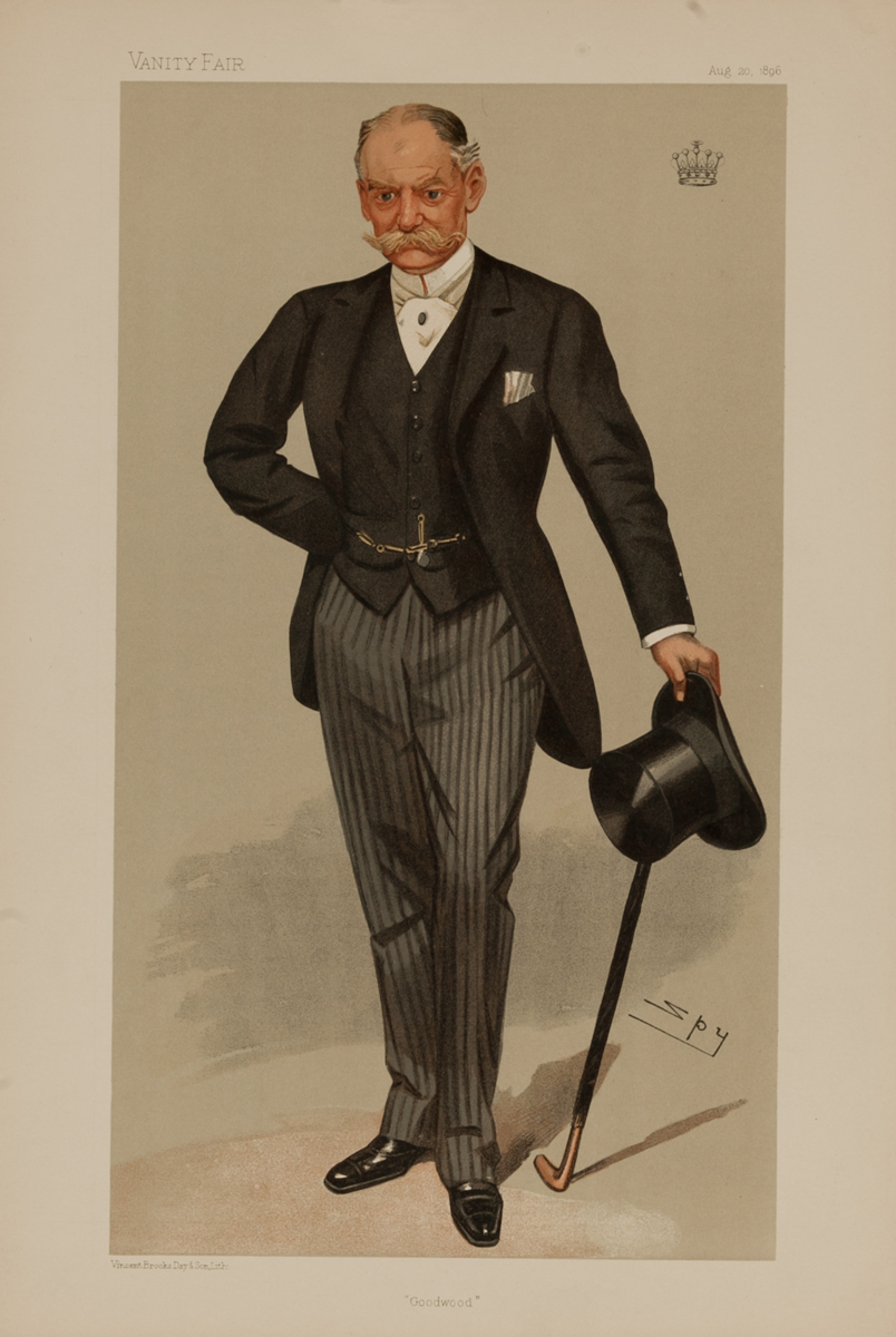 Goodwood, Vanity Fair Caricature Lithograph by Spy, The Earl of March