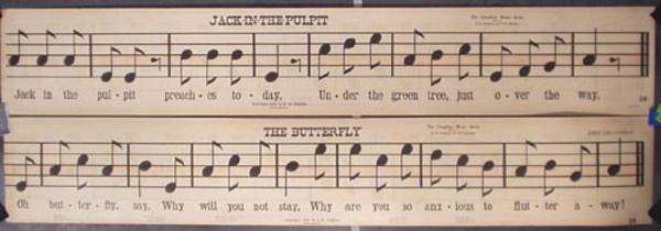 Original 1905 Music Vintage Poster The Butterfly