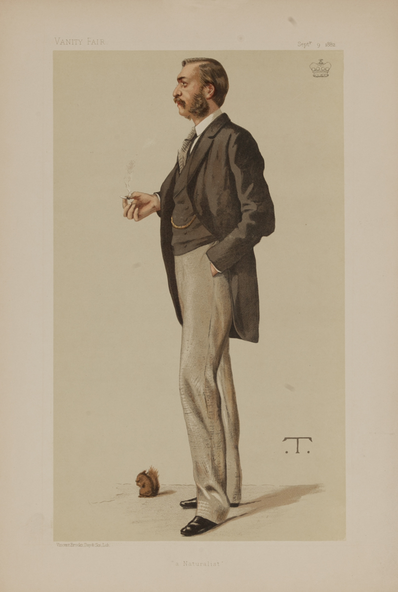 A Naturalist, Vanity Fair Caricature Lithograph, Lord Walsingham