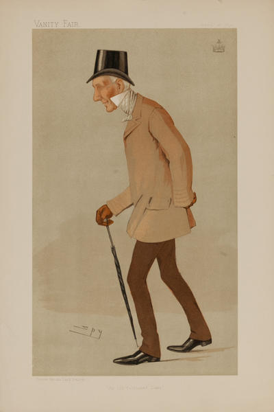 An Old Fashioned Duke, Vanity Fair Caricature Lithograph, The Duke of Somerset
