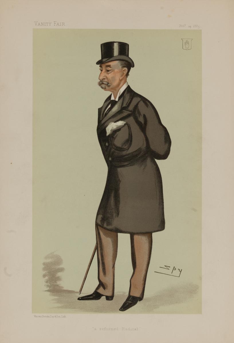 Reformed Radical, Vanity Fair Caricature Lithograph, Sir HA Hoare Bt