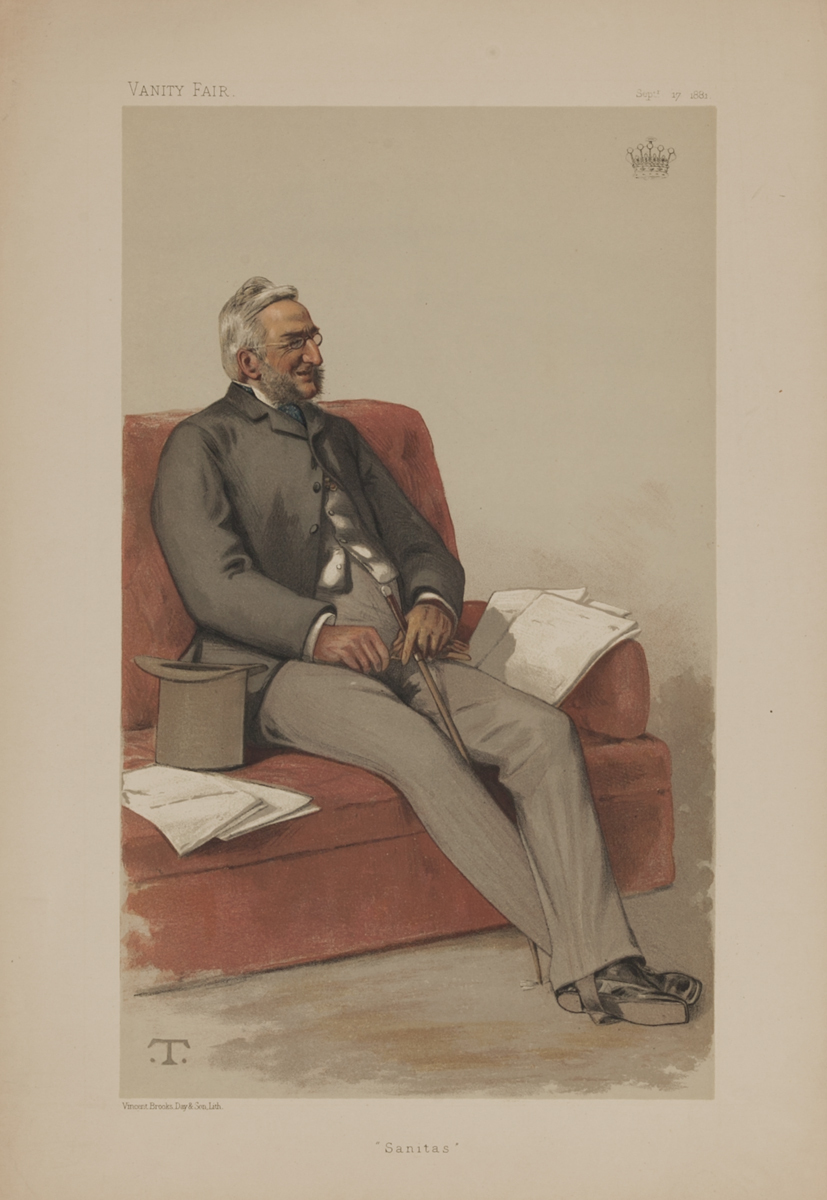 Sanitas, Vanity Fair Caricature Lithograph, The Earl Fortescue