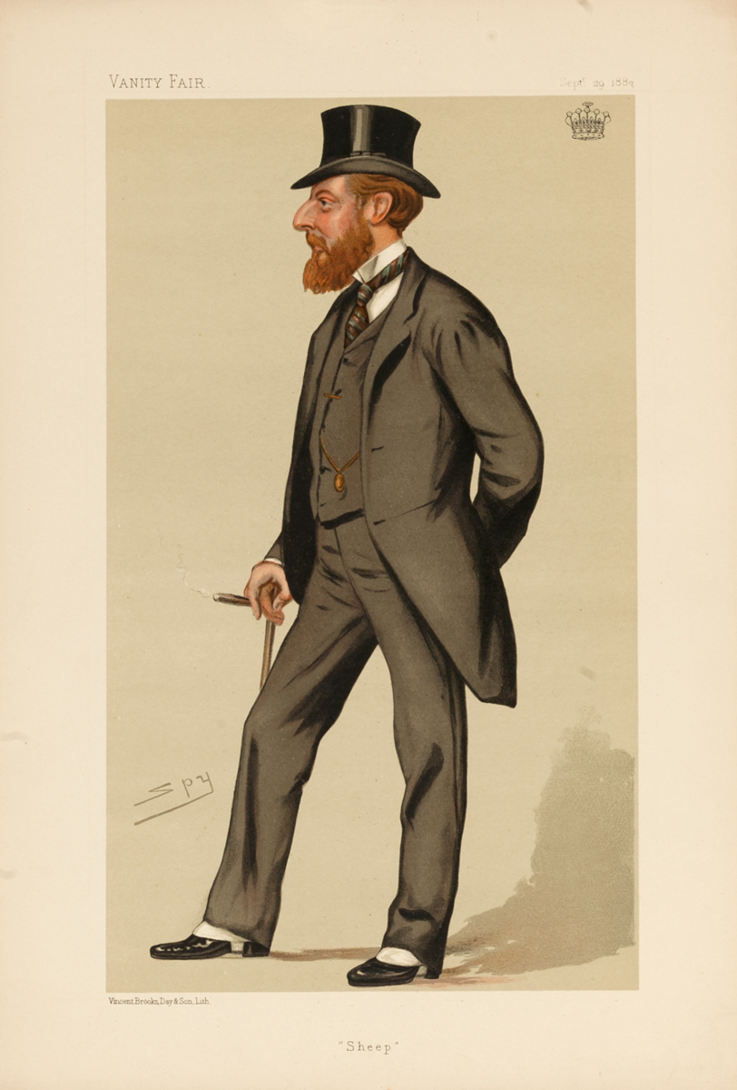 Sheep, Vanity Fair Caricature Lithograph, The Earl of Seafield