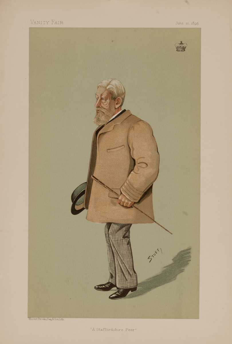 A Staffordshire Peer, Vanity Fair Caricature Lithograph, Lord Wrottesley JP DL