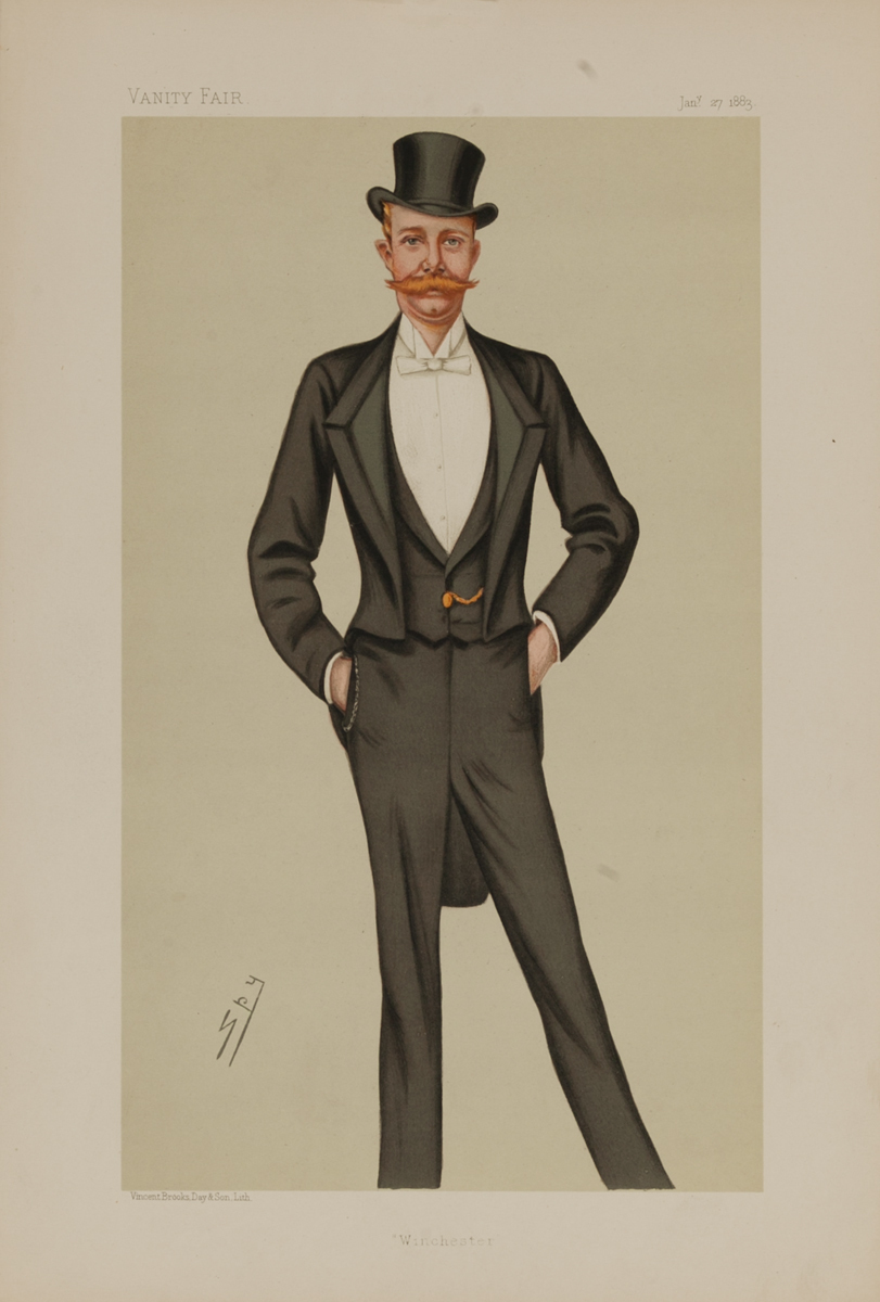 Winchester, Vanity Fair Caricature Lithograph, Viscount Baring