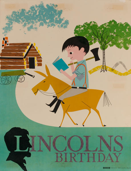 Lincoln's Birthday, Color Print Holiday Poster Series, School Print