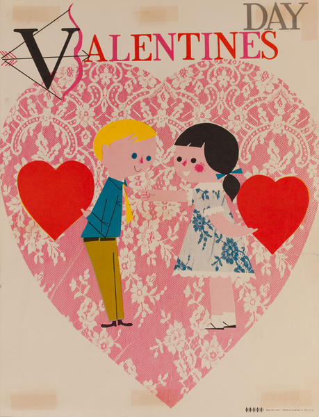 Valentins Day, Color Print Holiday Poster Series, School Print