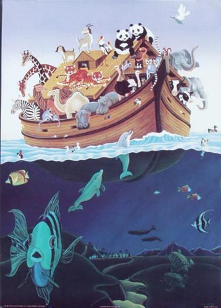 Noah's Ark Original Art Poster